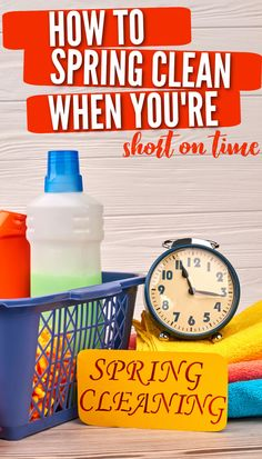 You want to spring clean your home and get it sparkly clean from top to bottom, but you just don't have the time for it between kids' activities, work, and everything else. Check out these 5 tips for how to spring clean your house when you're short on time for some ideas on how to get the job done! Get The Job, Spring Cleaning, Cleaning Hacks, Activities For Kids, Learning, Tips, Check, House, Ideas