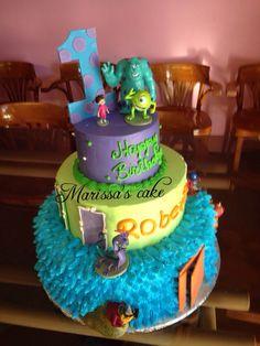 Monster inc. Birthday cake. Visit us Facebook.com/marissa'scake or www.elmanjarperuano.com