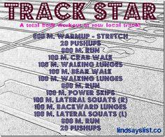 Track workout from Lindsayslist.co