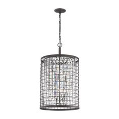 Horizontal and vertical lines intersect creating a vibrant pattern in the Nadina collection. Finished in Silverdust Iron, this series has single crystal prisms that run top to bottom of the fixture exuding the deep, refractive appearance.