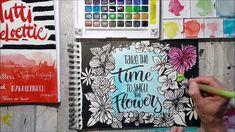 Brushlettering & flower drawing Tutti Meloettie
