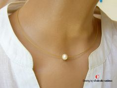 Excited to share the latest addition to my #etsy shop: One Pearl Necklace, Dainty Pearl Necklace, Real Freshwater Pearl, Single White Pearl Pendant, Gold Pearl Necklace, Bridesmaid Gift. http://etsy.me/2jSi1nx #jewelry #necklace #birthday #gold #girls #pearl #pearlshell #lovefrie