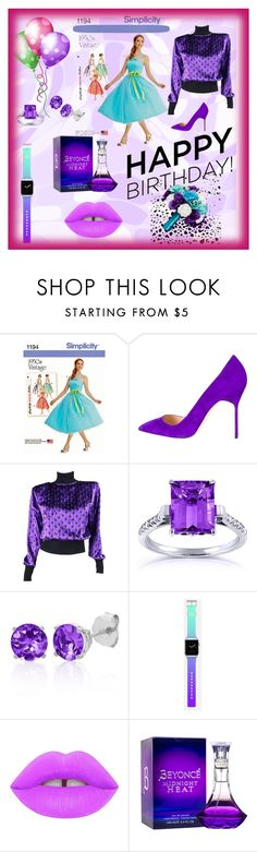 """birthday party for Catherine"" by explorer-14673103603 on Polyvore featuring Manolo Blahnik, Emanuel Ungaro, Kobelli, Belk & Co., Casetify and Lime Crime"