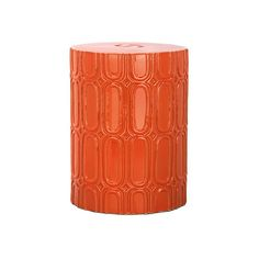 Chester Garden Stool Orange Garden Stools ($119) ❤ Liked On Polyvore  Featuring Home,