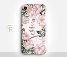 Personalised Floral Phone Case For iPhone 8 iPhone 8 Plus