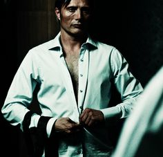 "Mads Mikkelsen in Hannibal And someone on twitter goes ""Chesapeake Stripper"" and I'm sorry but YES"