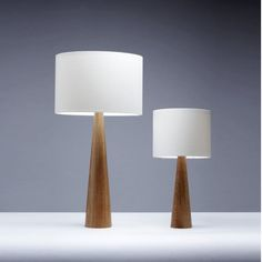 Based in the heart of England, Rutland, I make original lamps using traditional methods. This lamp is suitable as a bedside table lamp and is a smaller version of the cone table lamp. With a simple, stylish conical shape, the base measures 30cm to the top of the fitting and has a 7.5cm diameter at the base. As seen on the BBCs DIY SOS!  My work is made with native hardwood timbers that are sustainably sourced. I use a wax finish which creates a hard wearing finish and brings out the natural…