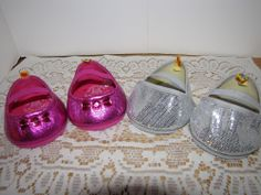 2 Pr. Build-A-Bear Workshop Shoes Silver Glitter & Pink Glitter #18944 & #18778  #AllOccasion