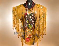 Native American Creek Indian War Shirt -Scout  (ws5)