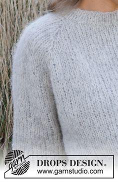 Baby Knitting Patterns, Knitting Stitches, Free Knitting, Sewing Patterns, Crochet Patterns, Drops Design, Laine Drops, Crochet Diagram, Knit Fashion