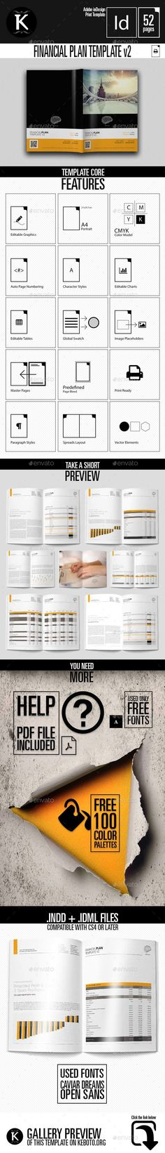 1490 best Financial Planning Tips and Tricks images on Pinterest     20 Pages Business Plan Template US Letter
