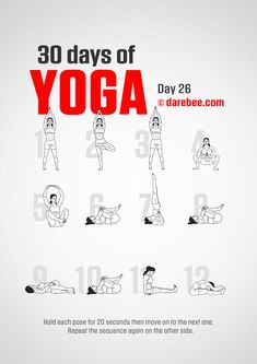 The four courses of Yoga are Jnana Yoga, Bhakti Yoga, Karma Yoga, and Raja Yoga. These four courses of Yoga are defined as a whole. The 4 paths of Yoga work hand in hand. 30 Day Yoga Challenge, Workout Challenge, Yoga Fitness, Fitness Style, Yoga Quotidien, Daily Yoga Routine, Yoga Day, 30 Days Of Yoga, Morning Yoga