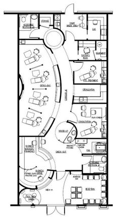 Dental Office Floor Plans, Orthodontic and Pediatric Medical Office Design, Dental Office Design, Healthcare Design, Design Offices, Modern Offices, Spa Interior, Salon Interior Design, Interior Sketch, Salon Design