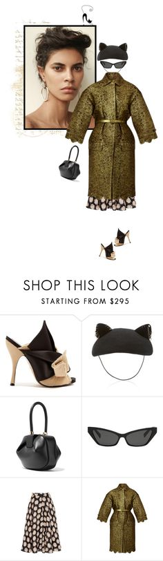 """Cats rule the world!"" by mariots22 ❤ liked on Polyvore featuring N°21, Gabriela Hearst, Oliver Peoples and Burberry"