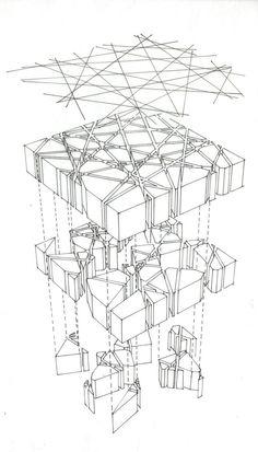Toyo Ito and Cecil Balmond, Serpentine Pavilion 2002 (London): Ito Sketch