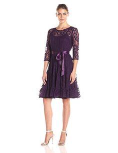 MSK Women's Long Sleeve Floral Illusion Lace Dress with Satin Belt, Eggplant, 6 MSK http://www.amazon.com/dp/B01691DSUW/ref=cm_sw_r_pi_dp_gPOSwb0FQDZ9E