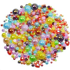 This embellishment pack contains a luscious mixture of rhinestones and pearls in lovely colourful bright colour pop colours The sparkly gems range in Rainbow Theme, Taste The Rainbow, Colour Pop, Decoden, Nail Decorations, Ornament Wreath, Embellishments, Card Making