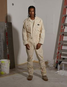 Relaxed Fit Custom Hand Treated Paint SplatterHeavyweight Duck CanvasCustom Hardware w/ Craftsmen PocketsHTG® Woven Label98% Cotton, 2% Spandex Model is 6'2inXL Size Guide Paint Splatter, Local Artists, 2 In, Craftsman, Military Jacket, Khaki Pants, Asos, Label, Jumpsuit