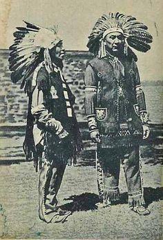 LAKOTA MAN AND AN IROQUOIS MOHAWK MAN , 1945