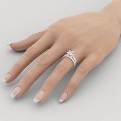 Image result for white gold princess cut engagement rings