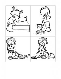 coloring pages kids chores by age | Free Printable Pecs Cards | From I Can Teach My Child : 4 ...
