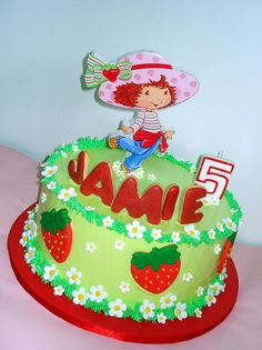 Strawberry Shortcake cake by pink_apron, via Flickr