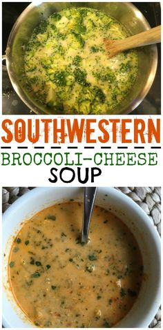 Southwestern Broccoli Cheese Soup via- Make the best of everything