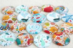 A personal favorite from my Etsy shop https://www.etsy.com/listing/247999167/whimsical-magnet-set-25mm-strong-glass