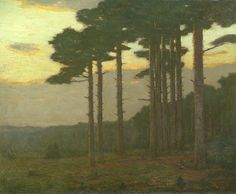 """The Pine Grove,"" Charles Warren Eaton, 1900-10, oil on canvas, 27 x 33"", Spanierman Gallery."