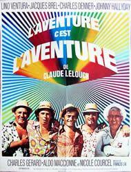 <3<3 L'Aventure c'est l'Aventure by Claude Lelouch, 1972 (Lino Ventura, Jacques Brel, Charles Denner, Johnny Hallyday)