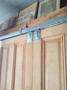 Sliding barn door hardware.