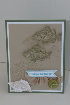www.createwithbev.blogspot.com from Sherrill graff Stamp with Laur - Stampin Up Happy Birthday