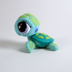 Littlest PET Shop 1325 SEA Turtle Green Blue Purple Eyes Special Edition Pets   eBay