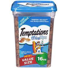 TEMPTATIONS MixUps Treats for Cats SURFER'S DELIGHT Flavor 16 Ounces