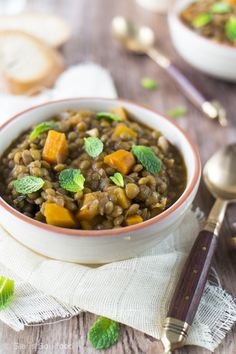 Griechische Linsensuppe I Greek lentil soup