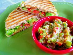 avocado panini melts with hot pepper salsa