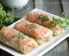 Vietnamese Summer Rolls..I literally just ordered rice paper online so I can make these to satisfy my CRAVING!!!!