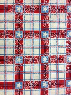 100% Cotton Red Americana Plaid from Quilting Treasures