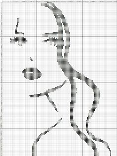 This Pin was discovered by Gül Cross Stitch Boards, Cross Stitch Art, Cross Stitching, Cross Stitch Embroidery, Funny Cross Stitch Patterns, Cross Stitch Designs, Loom Patterns, Beading Patterns, Cross Stitch Silhouette