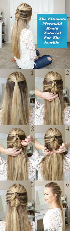 Looking out for fantabulous Mermaid Braid haircut tutorial? You have come to the right place! Here we demonstrate how easily you can create your own Mermaid Braid haircut. Check out and enjoy. (Easy Hair Drawings)