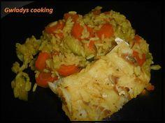 Colin au riz et ses légumes - cookéo