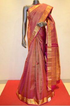 Royal Pink Designer Bridal Wear Kanjeevaram Silk Product Code: AA215831