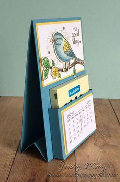 Stampin' Up! Best Birds Post-It Note Mini Calendar - Judy May, Just Judy Designs