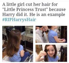 Whether it's true or not that she did it because Harry did, it's still a beautiful thing to do