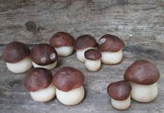 Marzipan Penny Bun Mushrooms  mushroom cake by AlexandrasCandyLab