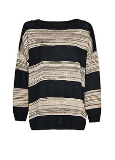 MANGO - Relaxed-fit stripes jumper