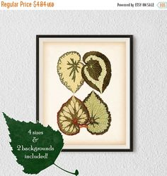 BLACK FRIDAY SALE Botanical decor leaf by RestoredBotanicalArt