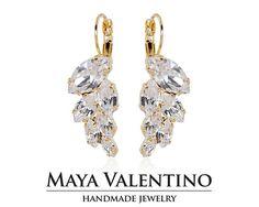 Droplet earring Crystal earring Prom earring Bridal