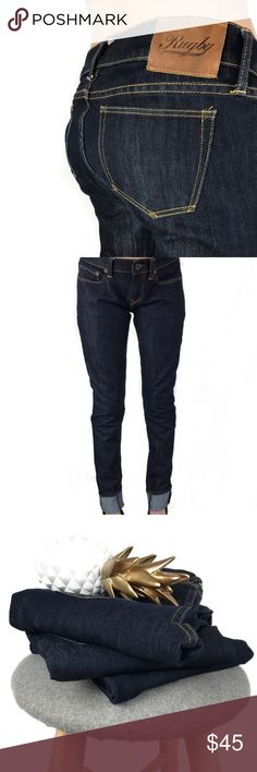 R L • R u g b y • S k i n n y • J e a n s • Sz 27 Ralph Lauren Rugby dark denim skinny jeans Sz 27 Ralph Lauren RRL Jeans Skinny