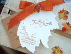 autumn wedding invitations in unusual shapes and forms autumn wedding invitations in unusual shapes and forms 578x442